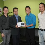 Presentation of prizes for the winner of the 'My Beautiful Sarawak' Photography Competition, 2012